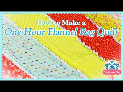 One-Hour Flannel Rag Quilt! Easy Quilting Tutorial with Kimberly Jolly of Fat Quarter Shop