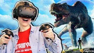 JURASSIC WORLD VR GAME!  | Ark Park (HTC Vive + Haptic Suit Gameplay)