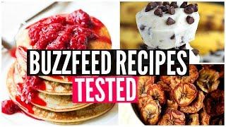 Buzzfeed Food Recipes TESTED: 3 Ingredient Snacks Taste Test