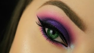 How To: Make Green Eyes Pop! | Purple Smokey Eye