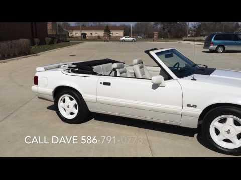 1993 Ford Mustang TRIPLE WHITE w/ 38K ORIGINAL MILES: 1993 FORD MUSTANG CONVERTIBLE- 1 OF 1,500 TRIPLE WHITE CONVERTIBLES - 38K MILES