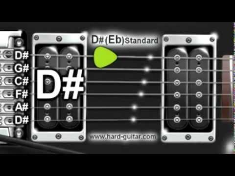 D# (Eb) Standard Guitar Tuner (D# G# C# F# A# D# Tuning)