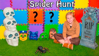 The Assistant goes on a Spider Scavenger Hunt with Paw Patrol and PJ Masks