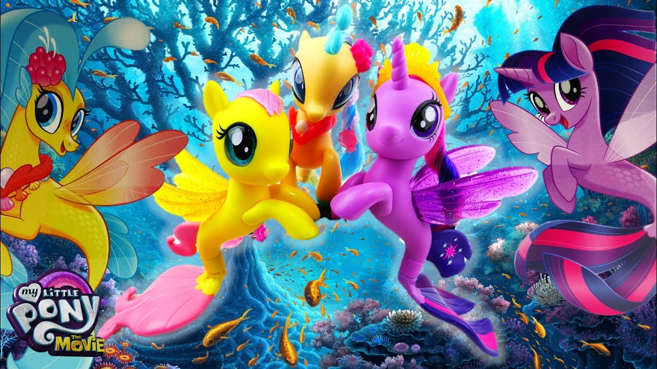 My Little Pony: The Movie Glitter & Style Seapony Princess Skystar Fluttershy Twilight Sparkle