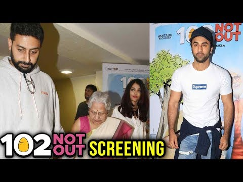 102 Not Out Movie Screening | Ranbir Kapoor, Abhis