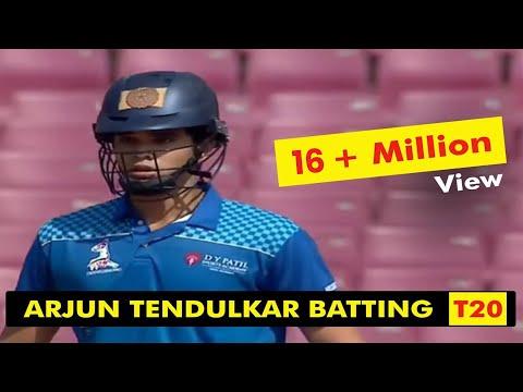 Sachin Tendulkar Son Arjun Tendulkar Batting