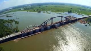 Мост Аксу - Павлодар с высоты, июль 2016 г.
