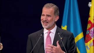 Palabras de S.M. el Rey en la ceremonia de entrega de los Premios Princesa de Asturias 2021