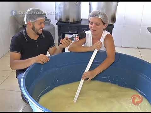 Processo do queijo artesanal recheado