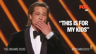 The Oscars 2020 | Brad Pitt emotional during first Oscar acting win | FOX