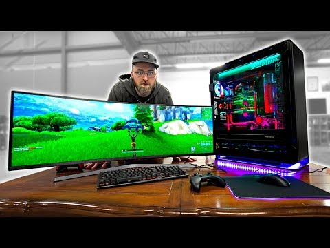 Fortnite on an INSANE $20,000 Gaming PC (видео)