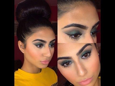 Wearable Olive Green Smokey Eye Full Face Makeup Tutorial