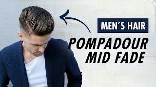 Pompadour Mid Fade Undercut For Men Barber Style - Mens Hair Summer Trends