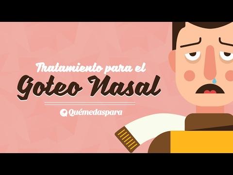 Tratamiento goteo nasal