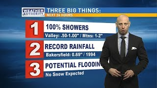 Bakersfield could 'break rainfall records' Tuesday