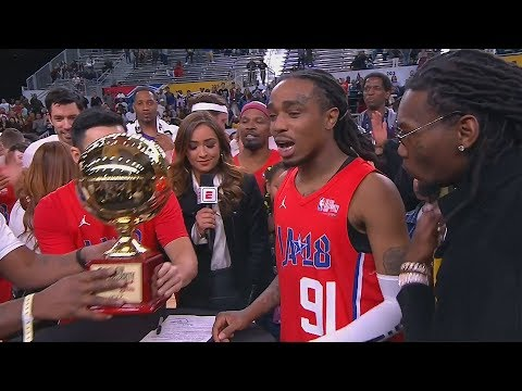 Quavo Wins MVP of the 2018 All-Star Celebrity Game! Offset and Takeoff Show Up To Support!