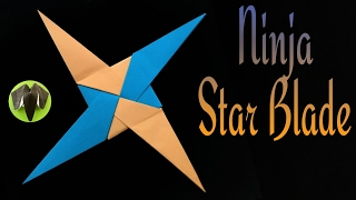 """Ninja Star Blade Shuriken"" - 4 pointed - Simple and Easy - DIY Origami Tutorial by Paper Folds"