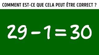 10 Casse-Têtes Mathématiques Qui te Laisseront Perplexe