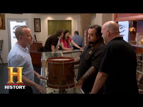Pawn Stars: Tough Negotiation for a Vintage Eagle Drum (Season 12) | History