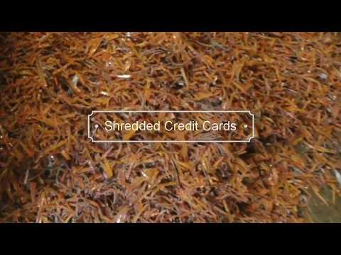 Industrial Credit Card Shredder