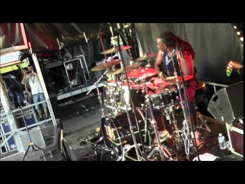 Reggae Drummer Dyrol (Chops) Randall with THE ORIGINAL WAILERS