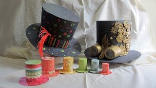 DIY Mini Top Hats, Steampunk Hat, Mad Hatter Hat Childrens Tutorial