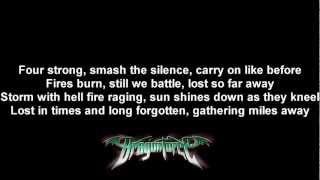 DragonForce - A Flame For Freedom | Lyrics on screen | HD