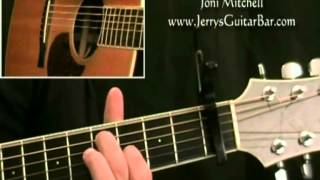 How To Play Joni Mitchell You Turn Me On I'm a Radio (intro only)