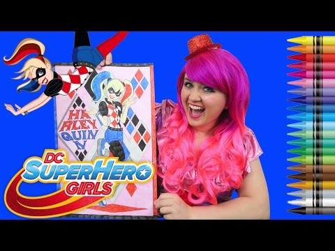 Coloring Harley Quinn DC Super Hero Girls GIANT Coloring Book   COLORING WITH KiMMi THE CLOWN