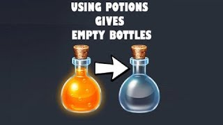 Potions Give Empty Bottles