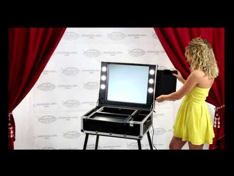 video VT103 spacious make up station with lateral sliding drawer