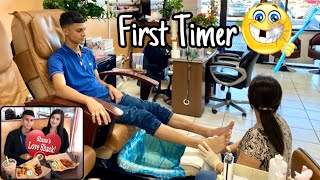 My First Time Getting A Mani Pedi With Melody