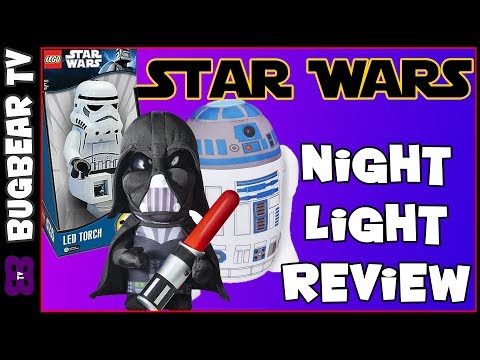 Star Wars Night Light Review | Go Glow Pal R2D2, Darth Vader & LEGO StormTrooper Torch - BugBear TV