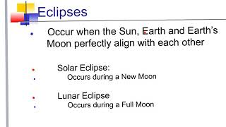 The Moon's Phases and Eclipses