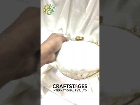 Traditional Bridal Brass MOP Clutches