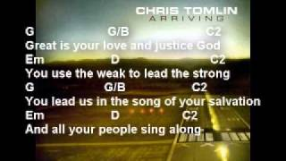 Chris Tomlin - Your Grace Is Enough - With lyrics and guitar chords