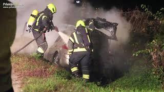 Požar osebnega vozila v Pristavi