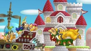 New Super Mario Bros. U - All Castle Levels (2 Player)