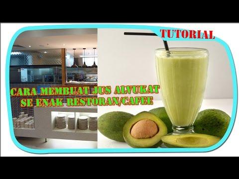 Video Cara Membuat jus alpukat ala caffe/restoran