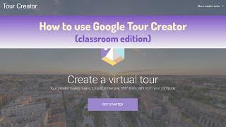 Google Tour Creator tutorial