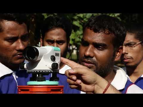 land surveyor training institute, total station training - YouTube