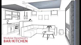 Finished Basement Modular Kitchens And Bars