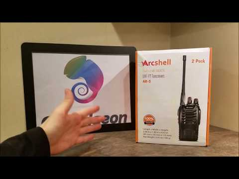 📻 The Best Walkie Talkie 📻 Two Way Radios Arcshell UHF FM Transceivers AR-5 Review Unboxing