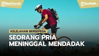 Kelelahan Bersepeda Seorang Pria Meninggal Mendadak di Tepi Jalan, Diduga Terkena Serangan Jantung