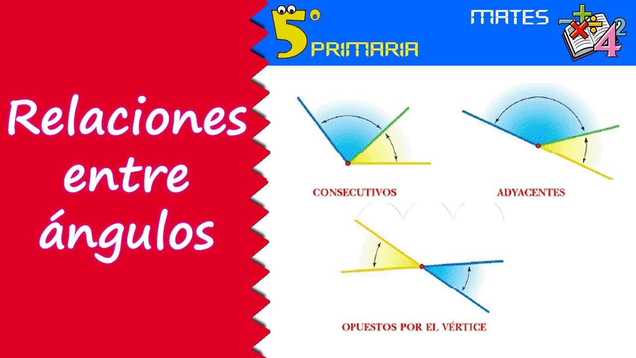 Relaciones entre ángulos. Mate, 5º Primaria. Tema 4