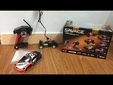 Unboxing and First Run Test Wltoys A252 RC Drift Car 1/24