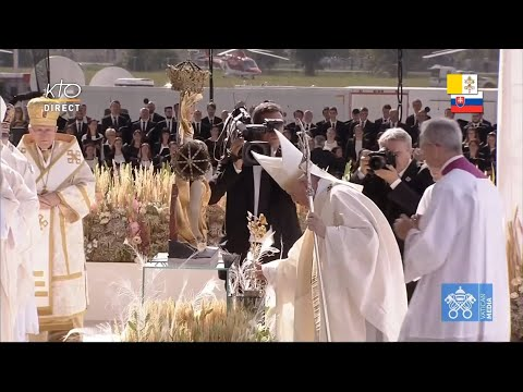 Messe du Pape au Sanctuaire national de Šaštin en Slovaquie