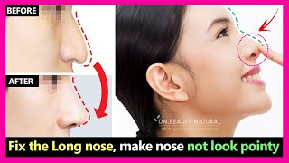 Fix long nose! Reduce the length of the nose size,  make your nose not look pointy | Nose exercises.