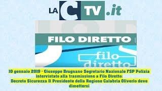 Filo Diretto LaC TV – 10 gennaio 2019 Intervento Giuseppe Brugnano su Decreto Sicurezza