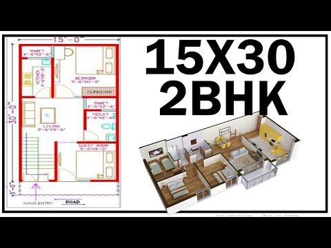 15' X 30' HOUSE PLAN & ELEVATION DESIGN IN 2D, 3D - игровое